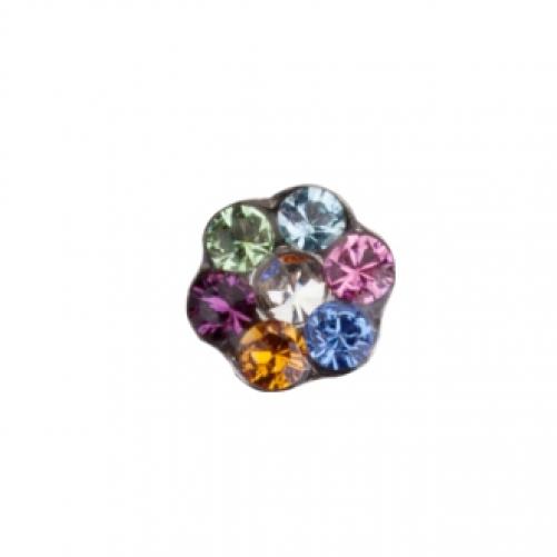 STUDEX | Серьги для прокола  Цветочек цветик - семицветик (PR-LD6213W-STX)
